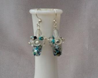 Foil Glass Bead Earrings