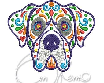 MACHINE EMBROIDERY DESIGN - Calavera Great Dane, Dia de los muertos, calavera dog, day of the dead, great danes