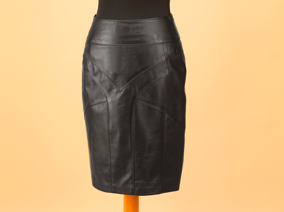 leather skirt genuine leather skirt custom made leather