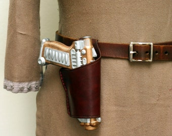 Steampunk Gun and Leather Holster