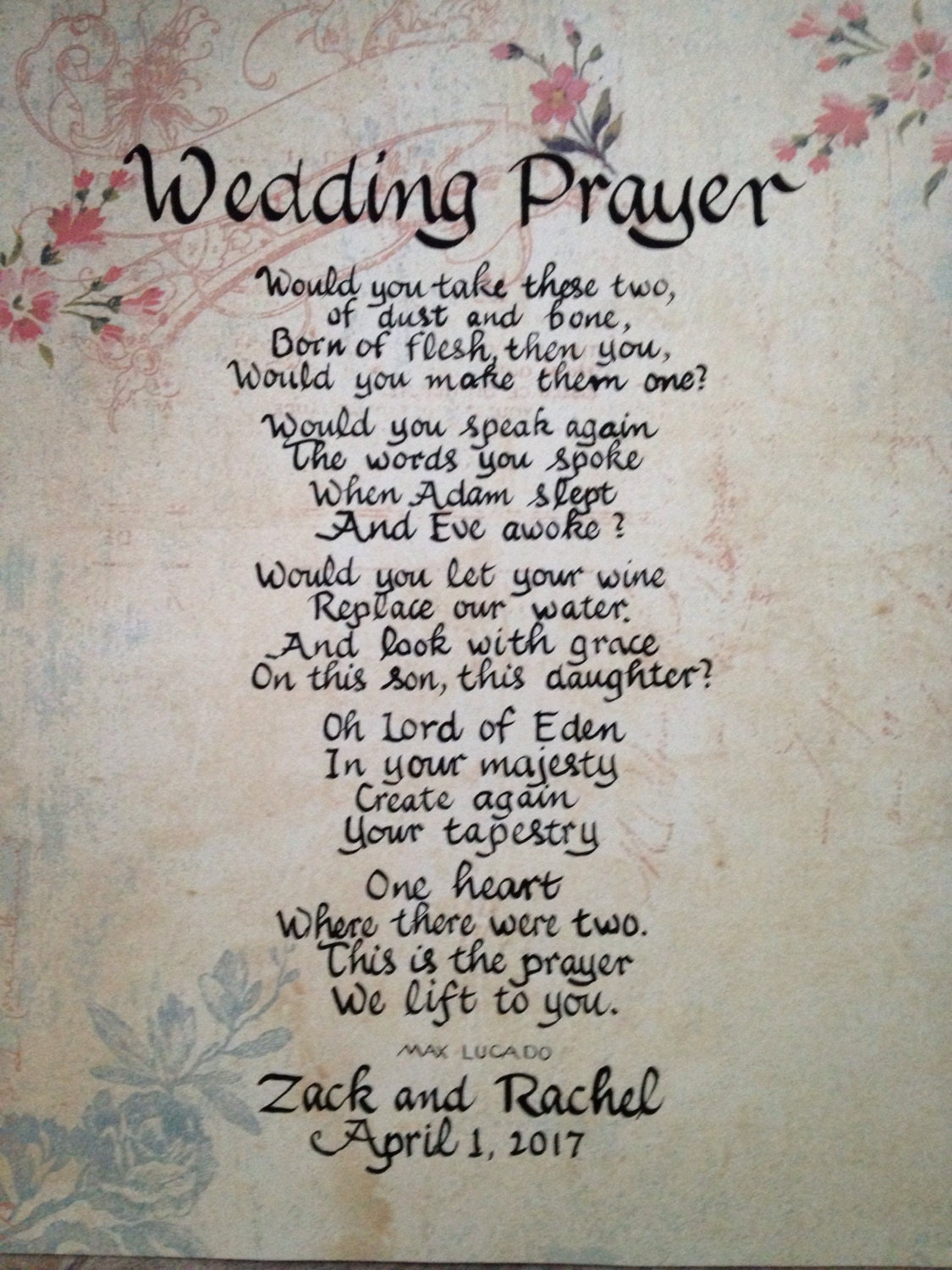 Wedding Prayer Max Lucado Prayer Master Bedroom Decor