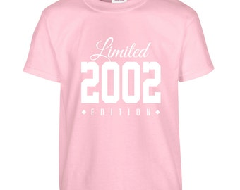 2002 Limited Edition Birthday Tshirt, Kids 14th Birthday Tshirt, Children's Birthday Tshirt, Gift for Child Birthday TH-2002Ts