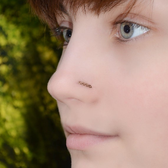 Nose Stud 18g - Gold Nose Ring - Tragus Earring Stud - Helix Piercing - Cartilage Stud - Rook Jewelry - Nose Screw 18g - Cartilage Earring