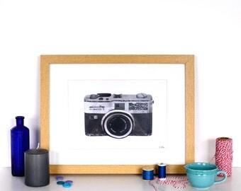 Retro Minolta Camera Print