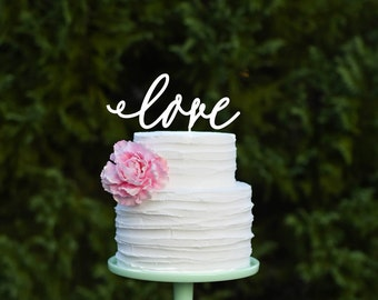 LOVE Wedding Cake Topper Rustic Cake Topper