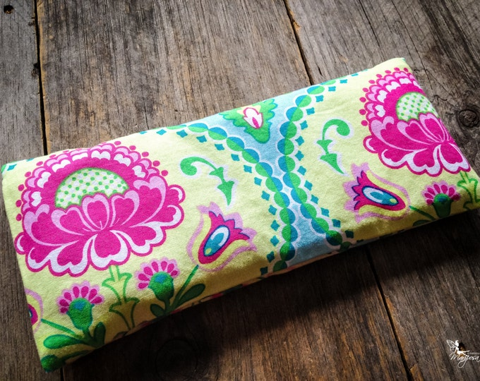 Yoga eye pillow savasana Lotus meditation relaxation aromatherapy tool Lavender or Camomile handmade by Creations Mariposa RY-LF