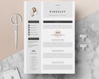 Professional Resume Template U0026 Cover Letter + Icon Set For Microsoft Word |  4 Page Pack  Cover Page For Resume Template