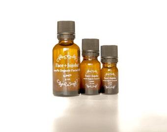 Create Your Own Organic Facial Oil ~ Organic Jojoba Oil Base ~ FACIAL + PEACE ~ 100% Organic Essential Oil & Body Oil