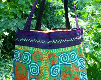 Boho Ethnic Bag - Hmong Bag - Embroidery handbag ( FREE SHIPPING WORLDWIDE )