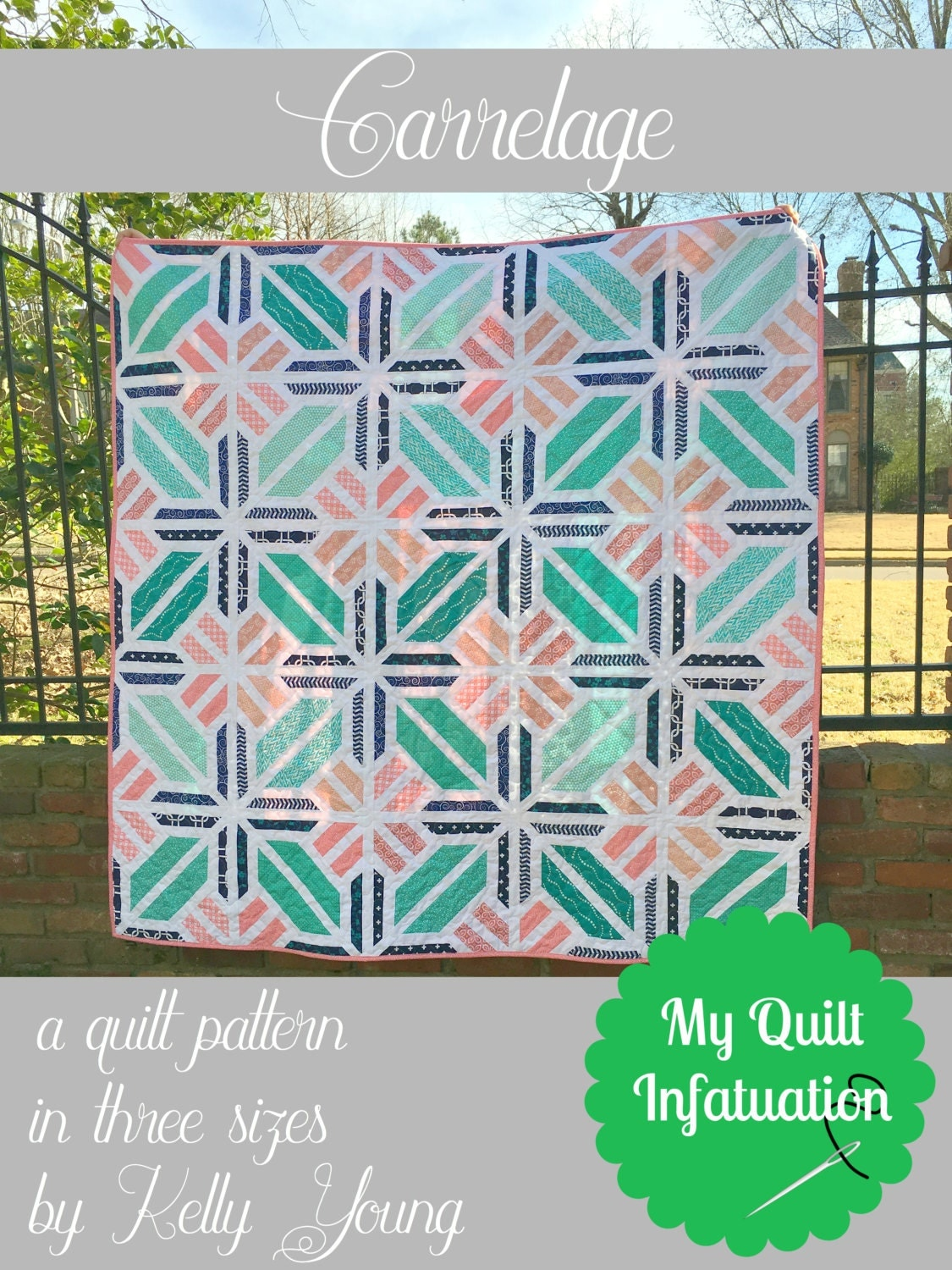 Carrelage quilt pattern from myquiltinfatuation on etsy studio for Carrelage in english