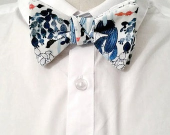 Bow tie knotted cotton pattern cactus.