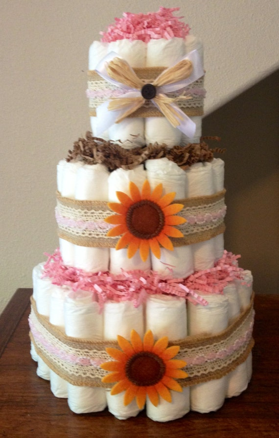 Items Similar To Fall Baby Shower Pumpkin Diaper Cake Autumn Baby