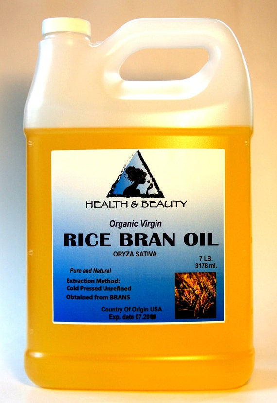 7 Lb 1 gal RICE BRAN OIL Organic Carrier Unrefined by