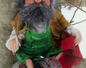 Johanni, needle / wet felted Gnome