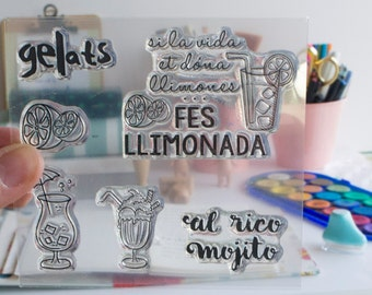 Clear Stamp LEMONADE in Catalan