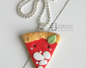 Pizza, kawaii, necklace, necklace