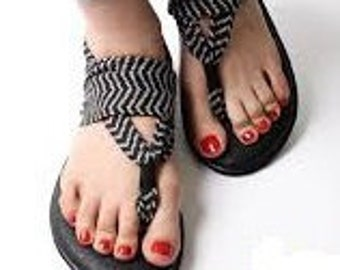 Monogram Sanuk Yoga Sling Sandals