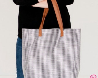Monogrammed Houndstooth Wholesale Boutique Tailgate Tote