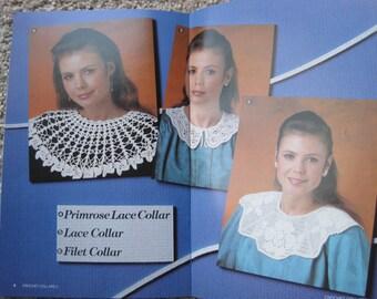 Crochet Pattern Book - Crochet Collars II - Annies Attic #87E25 - Vintage 1987