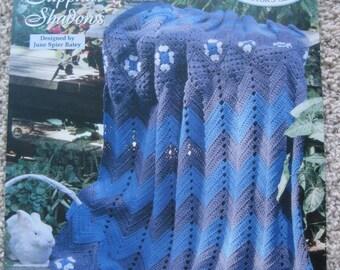 Crochet Pattern - Sapphire Shadows - Vintage 1995