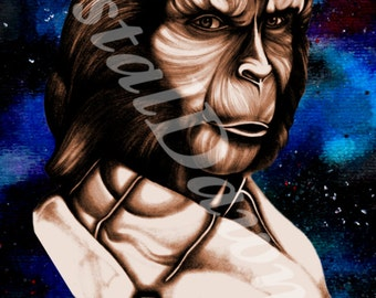 Planet of the Apes Art Print, Zira Print, Apes Art, Film Art, Portrait Art, Film Print, Planet Apes Poster, Art and Collectibles