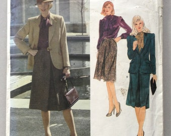 ON SALE:  Joseph Picone Vintage Vogue American Designer Original Pattern 2550, Misses' Jacket, Skirt and Blouse Size 12