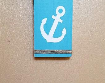 Anchor Sign - Nautical Sign - Beach House Decor - Lake House Decor - Nautical Decor - Nautical Nursery - Anchor Wood Sign - Ocean Decor
