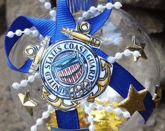 US Coast Guard Christmas Ornament -  Double Anchors - Military - USCG