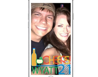 CUSTOM Snapchat GeoFilter for Birthday Party & other Parties- Digital Download