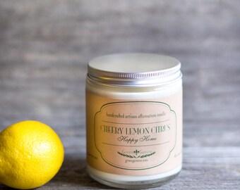 Lemon Citrus Handmade Soy Candle
