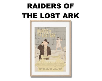 Indiana Jones - Raiders of the Lost Ark Movie Print - Poster Steven Spielberg A3