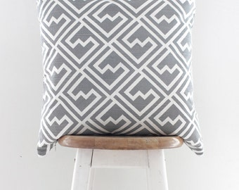 Grey Geometric Cushion Cover | Throw Pillow Cover | Decorative Cushion | Pillow Case Sham {Ivona}