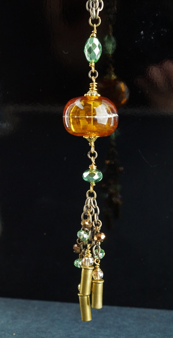 Items Similar To Rear View Mirror Danglers With Glass Bead