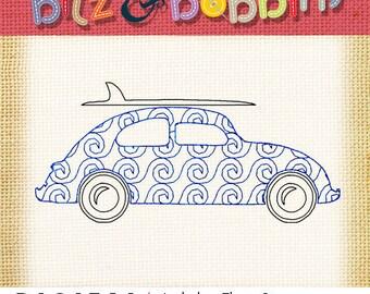 Retro VW Surf Bug - Machine Embroidery Design