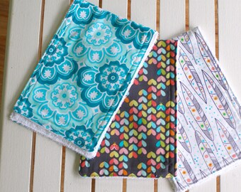Burp Cloth set of 3, Baby Wipes