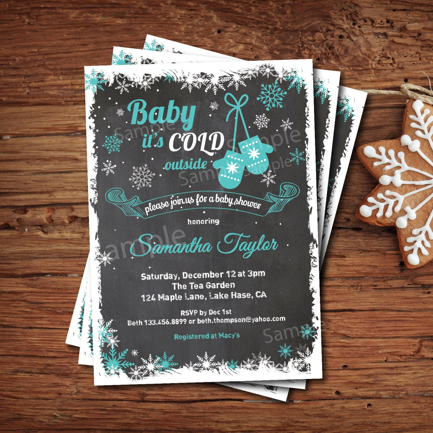 baby it 39 s cold outside baby shower invitation winter baby