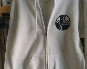 The SPECIALS ZIPPER Hoodie small white