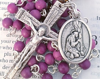 Saint Mary Magdalen Rosary Catholic Rosaries Mary Rosary St Mary Magdalen Rosary Confirmation Gift Purple Rosary