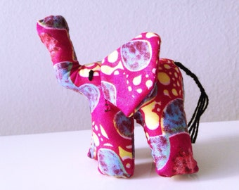 "Small Elephant #01126 made by Ugandan Disabled Women. 4"" height and 5"" wide"