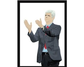 Arsene Wenger A3 Poster: 297mmx420mm Arsenal, Gooner, Gunner, London, Football, Soccer, Manager, France, Sanchez, Ozil, Giroud, Henry, AFC