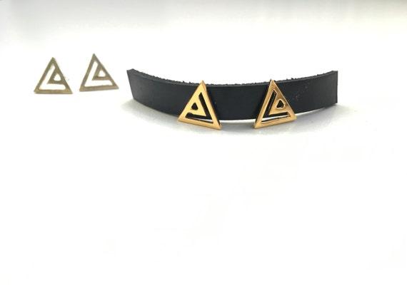 Mini Nested Triangle Studs
