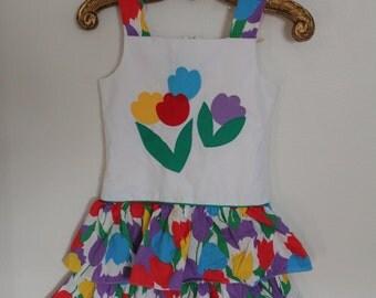 Vintage Sylvia Whyte 6X Floral Dress