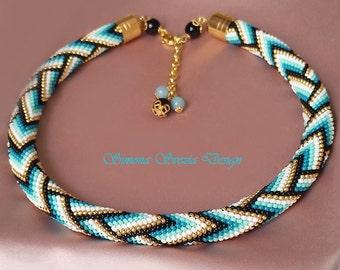 Bead crochet Necklace/Bead crochet necklace