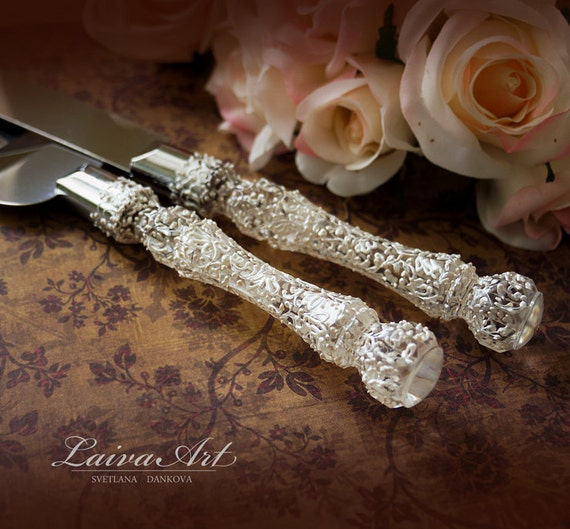 wedding cake server set knife cake cutting set by laivaart. Black Bedroom Furniture Sets. Home Design Ideas