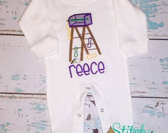 Mardi Gras Ladder Shirt, Bodysuit or Gown