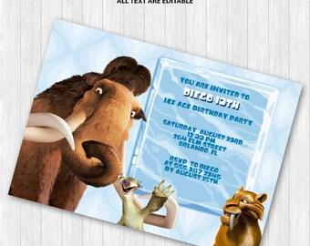 Ice Age Invitation