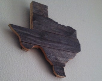 Rustic Wood Texas Sign Wall Art