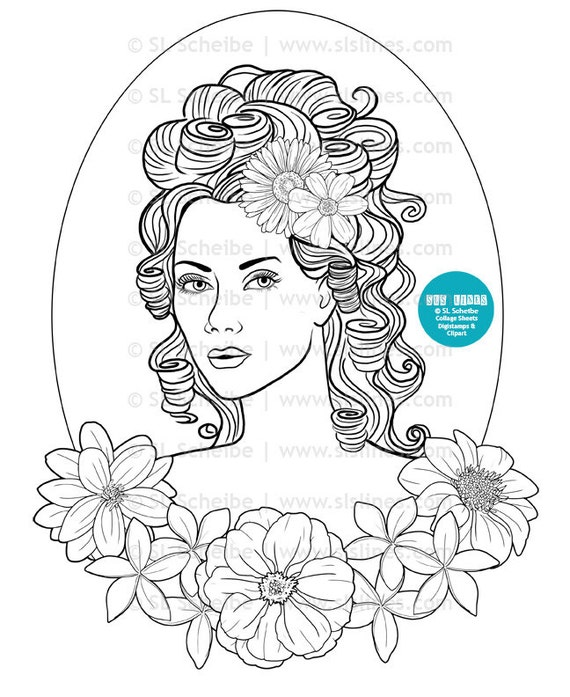 pretty lady coloring pages - photo#24
