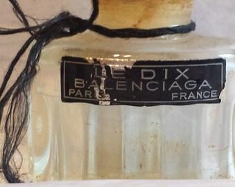 Vintage  Ballenciaga Le Dix Perfume Bottle