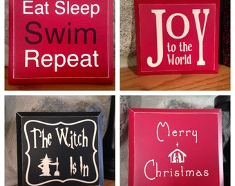 Custom Small Sign 3 Pack - Holiday- motivational